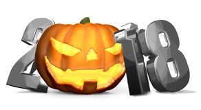 2018 silver Halloween  symbol. Illustration graphic Royalty Free Stock Photography