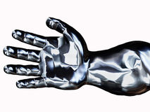 Silver Hand Royalty Free Stock Photography