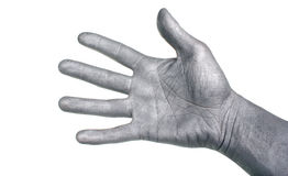 Silver hand Royalty Free Stock Image