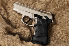 Silver handgun Royalty Free Stock Photography
