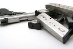 Silver Handgun Royalty Free Stock Photo