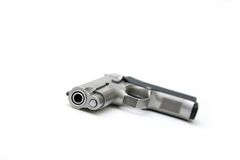 Silver Handgun Royalty Free Stock Photos