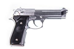 Silver Handgun Isolated Royalty Free Stock Photo