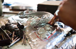 Silver handicrafts Royalty Free Stock Images