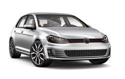 Silver hatchback car Stock Photography