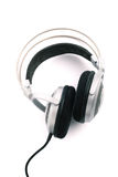 Silver headphone Royalty Free Stock Images