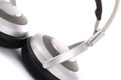 Silver headphone Royalty Free Stock Photos