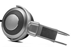 Silver Headphones Royalty Free Stock Photos