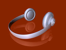 Silver Headphones 2 Royalty Free Stock Images
