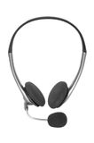 Silver headset Royalty Free Stock Photo