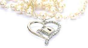 Silver heart Royalty Free Stock Photography