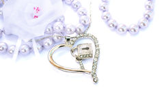 Silver heart Stock Photo