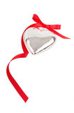 Silver heart Stock Images