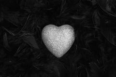 Silver heart Royalty Free Stock Photo