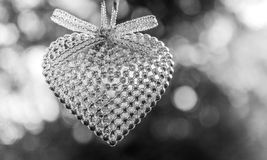 Silver heart Stock Image