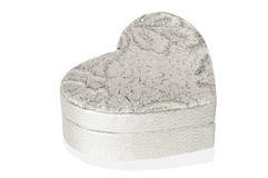Silver heart box on white background. Silver heart box on a white background Royalty Free Stock Images