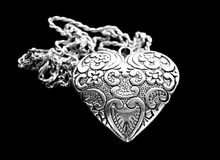Silver heart pendant Royalty Free Stock Image