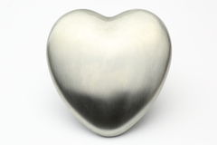 Silver heart Stock Photos