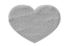 Silver heart shape with rock texture Royalty Free Stock Photos