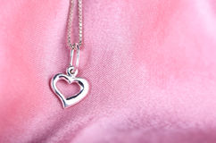 Silver heart Stock Photo
