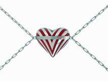 Silver hearts Stock Image