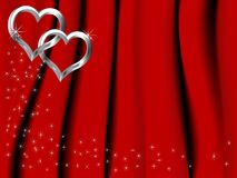 Silver hearts Stock Images