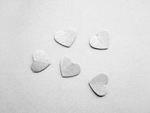 Silver hearts Royalty Free Stock Photography