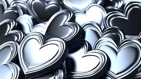 Silver hearts background royalty free stock images
