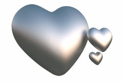 Silver hearts Royalty Free Stock Images