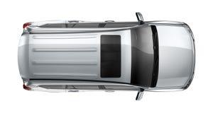 Silver heavy SUV on white Stock Photo