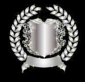 Silver heraldic shield Stock Photo