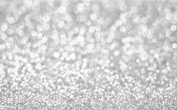Silver Holida blänker suddighet bakgrund Royaltyfri Bild
