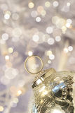 Silver holiday ball Stock Image