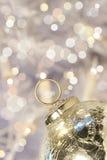 Silver holiday ball Stock Image