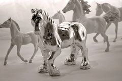 Silver horse Royalty Free Stock Photography