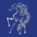 Silver horse silhouette. Royalty Free Stock Photos