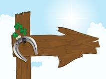 Silver horseshoe Stock Image