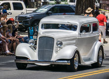 Silver Hot Rod Royalty Free Stock Photos