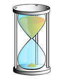 Silver hourglass Royalty Free Stock Image