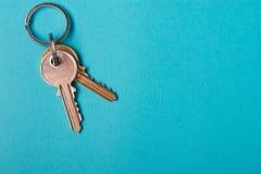 Silver house key Royalty Free Stock Photo