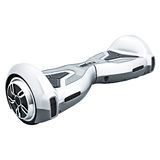 Silver hover board. On a White Background stock photo