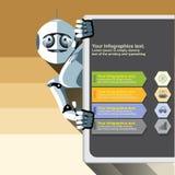 Silver humanoid robot Stock Photos