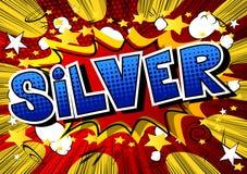 Silver - humorbokstilord stock illustrationer