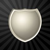 Silver icon. With metal border over ray background royalty free illustration