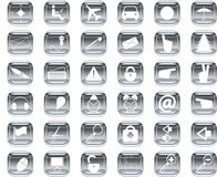 Silver icons Stock Photo