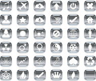 Silver icons Royalty Free Stock Photo