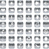 Silver icons Stock Image