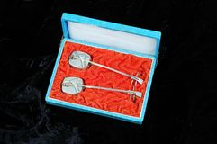 Silver incense holders. Stock Photography