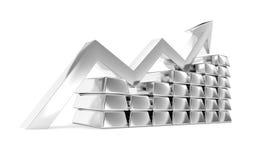 Silver index chart titanium ingots Stock Image