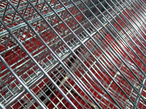 Silver industry grid, industrial metal details, Royalty Free Stock Photo